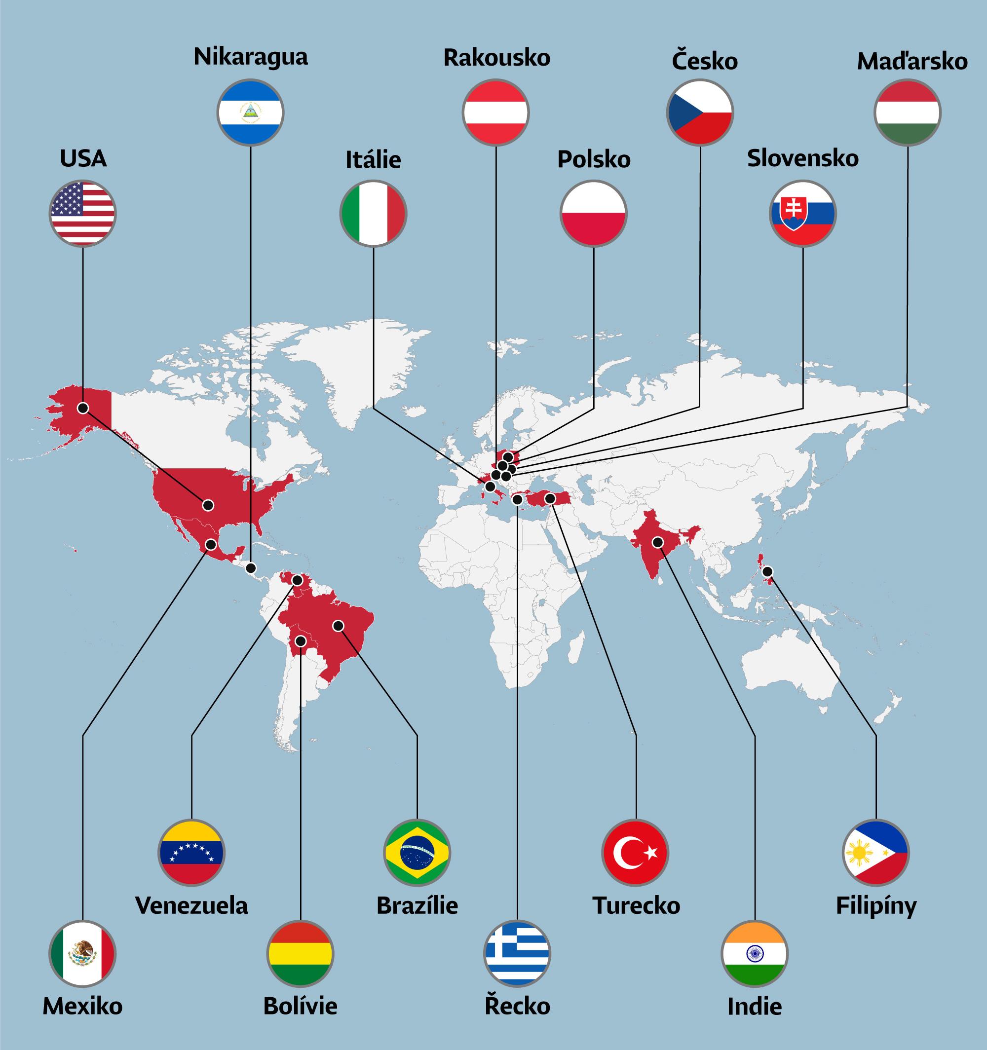 Brazilie Mapa Sveta Antiestablishmentu Se Rozrostla O Velkou Zemi