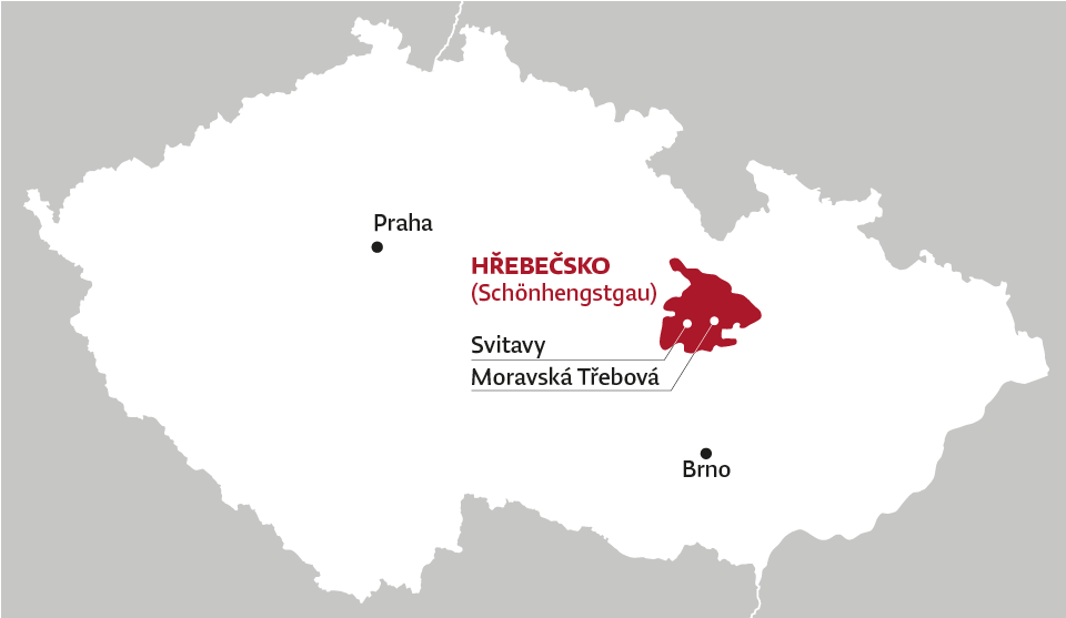 Mapa Hřebečska