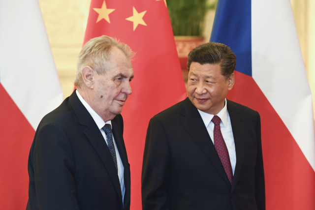 Výsledek obrázku pro Zeman čína