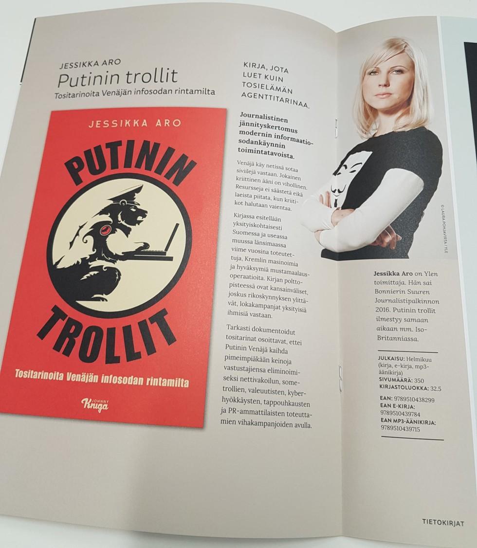 Putinovi trollové - obálka knihy ve finském originále